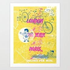 Inches Per Min Art Print