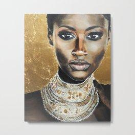 Graceful Ebony Metal Print