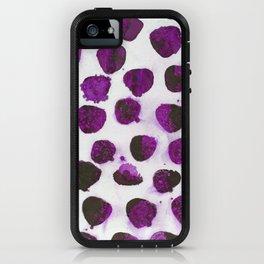 Deep purple floating ink blobs. iPhone Case