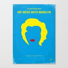 No284 My week with Marilyn minimal movie poster Canvas Print