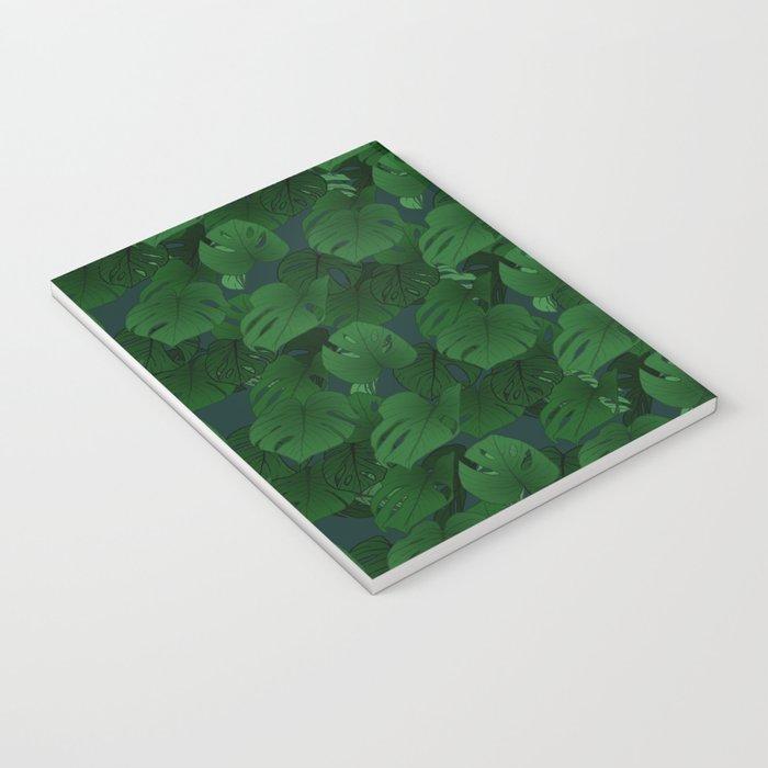 Monstera (Jungle) - Emerald x Teal Notebook