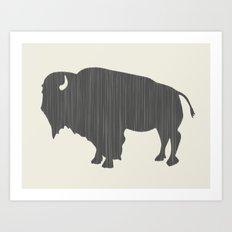 Buffalo Silhouette Art Print