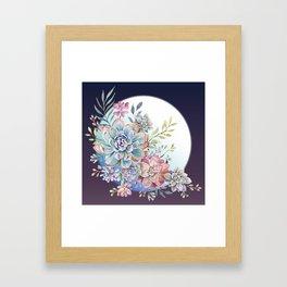 succulent fullmoon 7 Framed Art Print