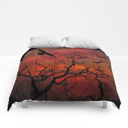 Red Sky at Night Comforters