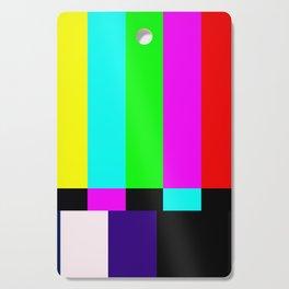 No Signal TV Cutting Board