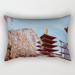 Sensoji in Spring Rectangular Pillow