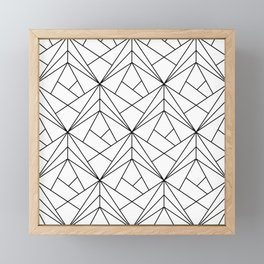 Black and White Geometric Pattern Framed Mini Art Print