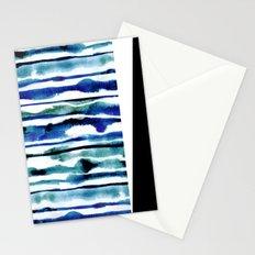 Laguna Watercolor Stripe Stationery Cards