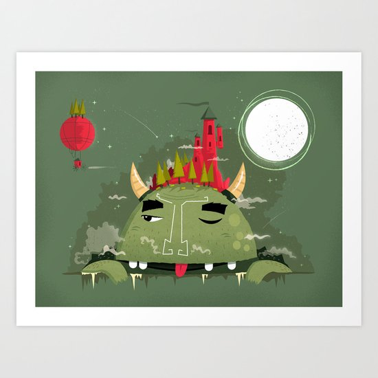 :::Heavy Burden::: Art Print