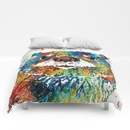 Otter Art - Ottertude - By Sharon Cummings Comforters