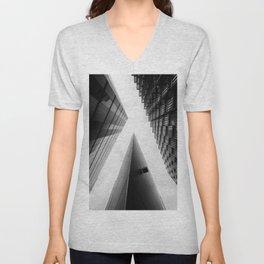 Modern Buildings London Finance Abstract Unisex V-Neck