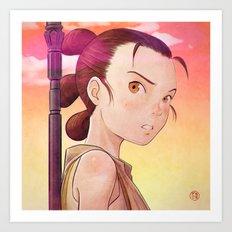 Starwars - Rey Tribute Art Print
