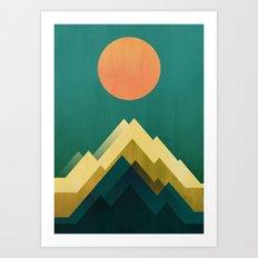Gold Peak Art Print