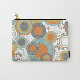 Retro Mid Century Modern Circles Geometric Bubbles Pattern Carry-All Pouch