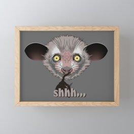 Aye-Aye Lemur Framed Mini Art Print