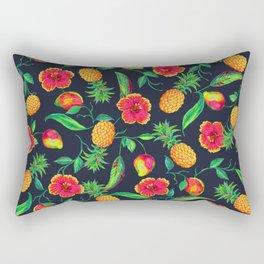 Tropical fruit and flowers Rectangular Pillow