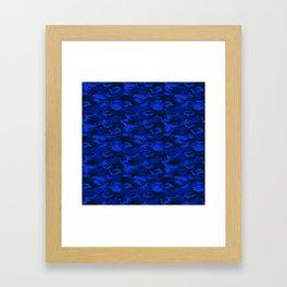 CAMO Deep Blue Framed Art Print