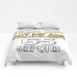 Funny Birthday Gift 65 Years Sixty Born in 1953 Comforters