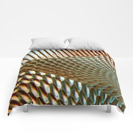 Shiny Gold Dimple Abstract Comforters