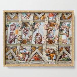 Vatican: Michelangelo's Sistine Chapel / Creation of Adam Serving Tray