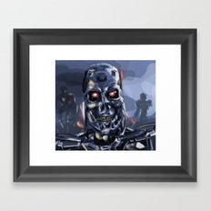 Speed Portraits: Terminator T-800 Framed Art Print