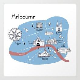 Mapping Melbourne - Original Art Print