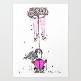 Miss Sprinkles Art Print
