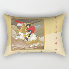 Napoleon Crossing the Alps by  Jacques-Louis David  Rectangular Pillow