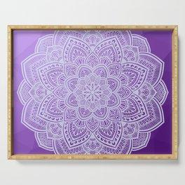 Mandala Purple Serving Tray