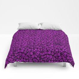 Dazzling Violet Vintage Flowers Comforters