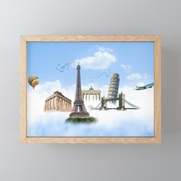 European Traveler Framed Mini Art Print