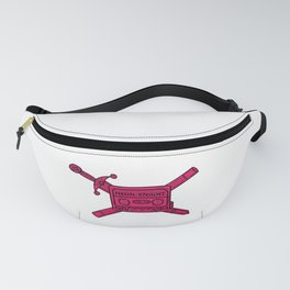 Neon Knight Pink Cassette and Sword Crest Fanny Pack