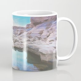 Exotic white rock formation near Mekong River Coffee Mug