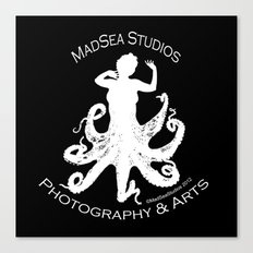 MadSea Nymph, white on black Canvas Print