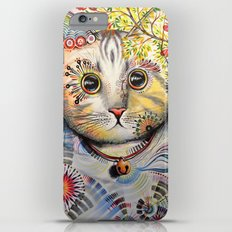 Smokey ... abstract cat art iPhone 6 Plus Slim Case