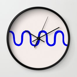 Abstract Shape Series - Squiggle Wall Clock