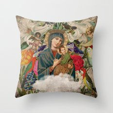 Saints Collection -- Madonna And Child Throw Pillow