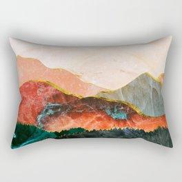 Abstract Mountain Landscape  Digital Art Rectangular Pillow