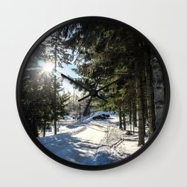 Snow Is Here Wall Clock