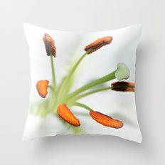 Lily stamen Throw Pillow