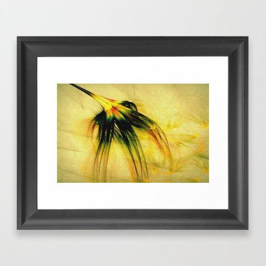 Flower in the Wind 2 Framed Art Print