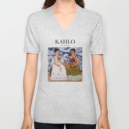 Kahlo - The Two Fridas Unisex V-Neck