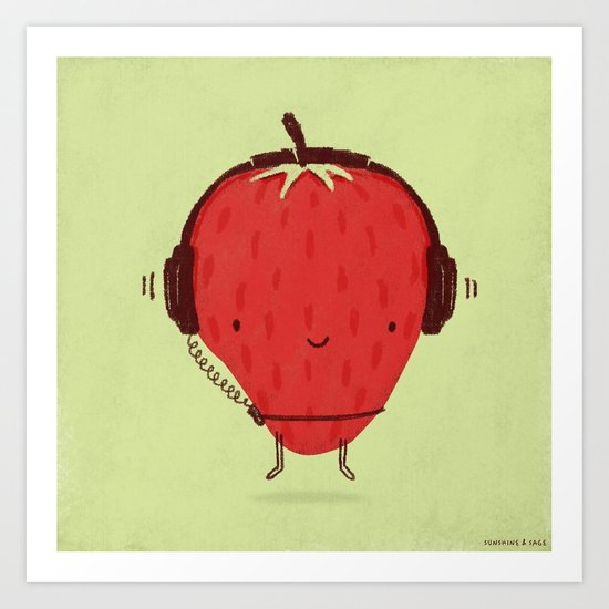 Strawberry Jammin' Art Print