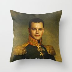Matt Damon - replaceface Throw Pillow