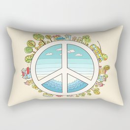 peaceful bright Pacific planet Rectangular Pillow