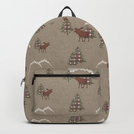 Moose and Mountains Pattern Backpack