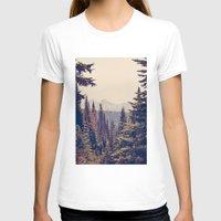 mountain T-shirts featuring Mountains through the Trees by Kurt Rahn
