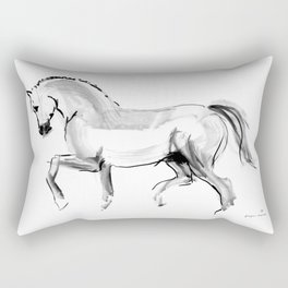 Horse (dressage) Rectangular Pillow