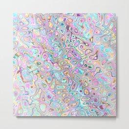 Pastel Blobs Metal Print