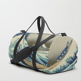 The Classic Japanese Great Wave off Kanagawa Print by Hokusai Duffle Bag